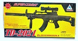 Enfants Jouet Assaut Militaire Fusil Gun avec feux Clignotant Sonore Vibration TD-2007