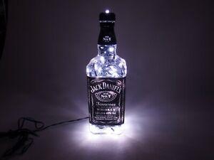 Jack-Daniels-Flaschen-Lampe-1L-120-LEDs-220V-Warm-UND-Kalt-Weiss-UMSCHALTBAR