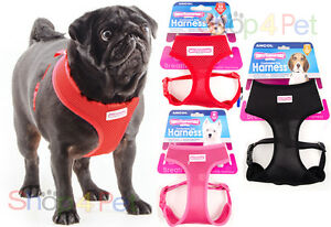 DOG-PUPPY-HARNESS-ANCOL-COMFORT-MESH-BREATHABLE-FOR-PET-4-SIZES-amp-4-COLOURS