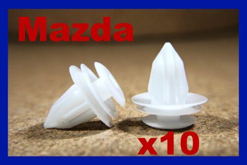 Para Mazda 10 Panel guarnecido de la Tarjeta Puerta Fascia Forro Sujetador Clips