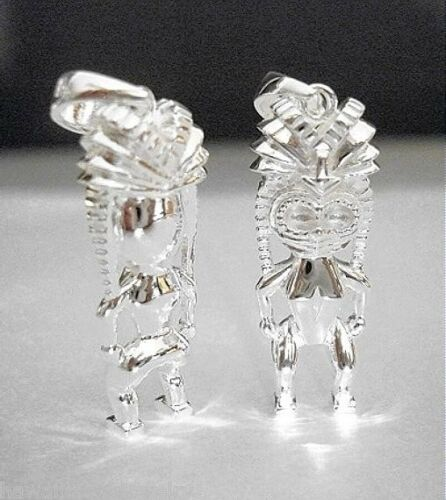 Details about  /12mm Hawaiian Heavy Solid Core 925 STER Silver Tiki Ku Strength Courage Pendant