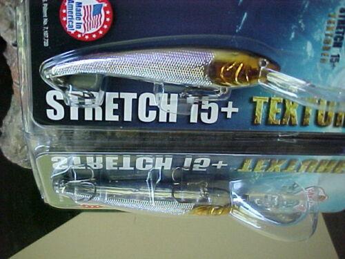 BigFish Cast//Trolling Lure 1//2oz T15-09 en Éperlan MANN/'S Texturé Stretch 15