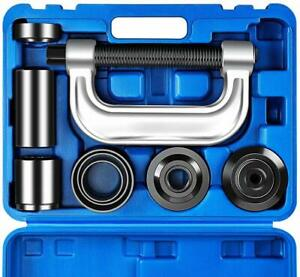 Ball Joint Press and U Joint Removal Tool Kit Heavy Duty With 4x4 Adapters Black