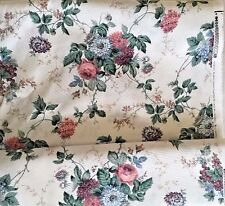 Waverly Roseberry Fabric 7 1/2 Yds Floral Grape Upholstery Drapes Home Decor New