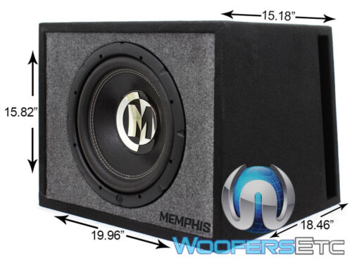"""MEMPHIS PRXE12S 12/"""" 600W SUB 2 OHM LOADED SUBWOOFER PRX-12D4 IN PORTED BOX NEW"""