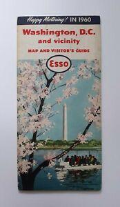 1960-Esso-Washington-DC-Map-amp-Visitor-039-s-Guide