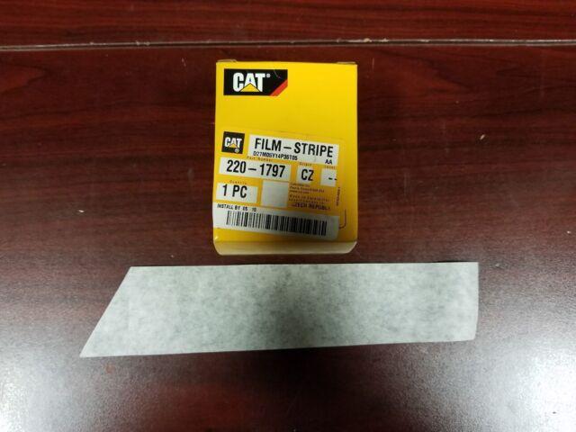 Genuine Caterpillar CAT D5n Upper L/h Cowel Striping Film Decal 220-1797