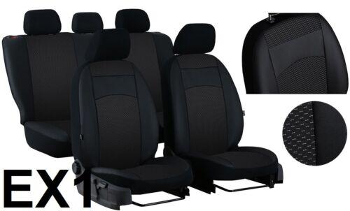 """Honda Civic X Hatchback 2017 en adelante Cuero Tela /""""Royal/"""" Fundas De Asiento a Medida"""
