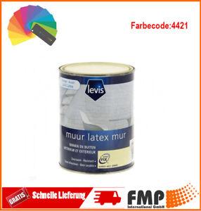 Levis Latex Wandfarbe Matt für Innen- und Außenwände 1L C:4421 Farbe:Bernstein