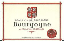 Etiquette de vin Bourgogne  eonologie wine