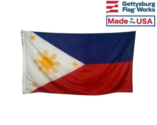 Flag of The Philippines Made in USA Multiple Sizes Durable All Weather Nylon