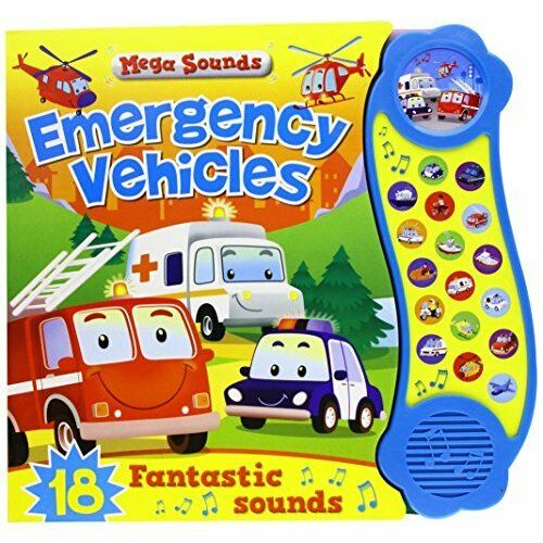 1 of 1 - Rescue Vehicles (Steering Wheel ),Touch & hear sound book 6 months +  baby, New