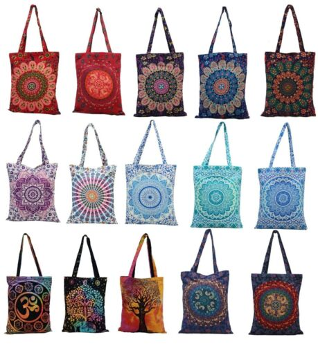 Mandala Shopping Borsa A Tracolla Hippie Cotone Multiuso Borsa Boho Tote Borsa Da Spiaggia