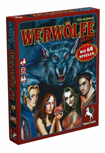 Pegasus Spiele Werewolf Party Game by Ted Alspach German Edition.