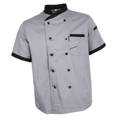 Vêtements De Cuisine Uniformes à Manches Courtes De Chef D/'hôtel De Cuisine