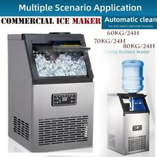 Automatic Commercial Ice Maker Stainless Built In Ice Cube Machine Undercounter