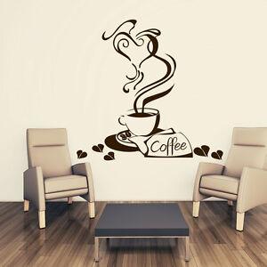 Dettagli su Tatuaggio Parete Tazza di Caffè Coffee CUCINA CUORE KITCHEN  ADESIVO MURO ADESIVI PARETE 219- mostra il titolo originale