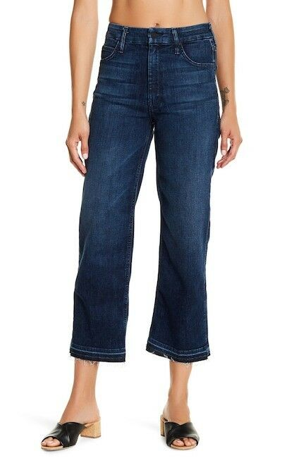 NEW MOTHER JEANS THE INSIDER CROP JEANS IN TWILIGHT MAGIC SIZE 28