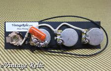 J Bass Upgrade wiring kit fits Fender Jazz Bass CTS pots Orange Drop .047uF cap