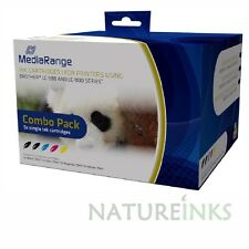 10 Mediarange remanufactured Multipack Brother LC980 LC1100 ink cartridge