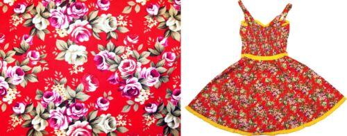 77973 Red Rosey Luau Floral Hawaiian Dress Sourpuss Retro Pinup Punk X-Large XL