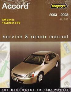gregorys workshop repair manual honda accord cm 03 08 ebay rh ebay co uk gregorys workshop manuals online gregorys workshop manual pdf