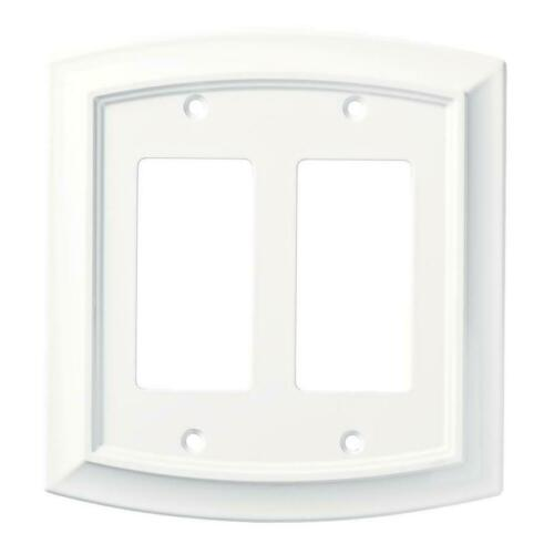 Brainerd W36439-PW Pure White Arched Double GFCI Cover Plate