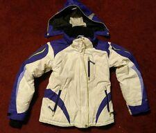OBERMEYER Girls Ski/ Snowboard Jacket Removeable Hood White Purple Size 10