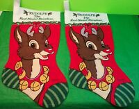 Vintage RUDOLPH The Red Nose Reindeer Collectible  Christmas Stockings Gift
