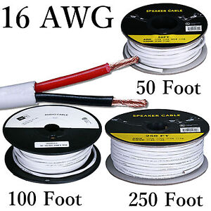 Details about 16 Gauge Solid Copper Stranded Speaker Wire 2 Conductor on