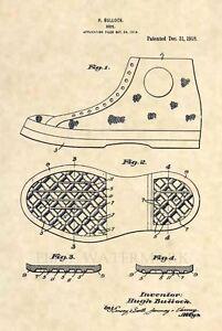 Details about Original FIRST Converse Chuck Taylor Patent Art Print Chucks All Stars Nike 424