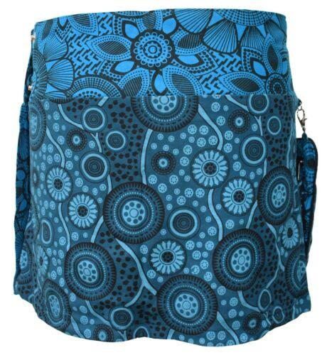 Gheri Reversible Short Cotton Bohemian Hippie Studded Popper Wrap Mini Skirt
