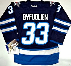 534b3959dda NWT DUSTIN BYFUGLIEN WINNIPEG JETS YOUTH S M NHL LICENSED REEBOK ...