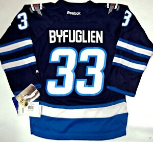 100% authentic 8ffb9 62010 Details about NWT DUSTIN BYFUGLIEN WINNIPEG JETS YOUTH S/M NHL LICENSED  REEBOK HOCKEY JERSEY