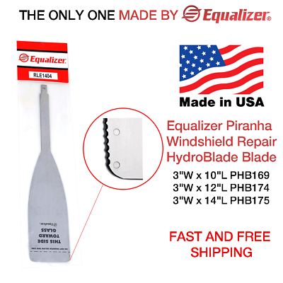 Frugale Equalizer Piranha Windshield Autoglass Repair Hydroblade Blade Made In Usa