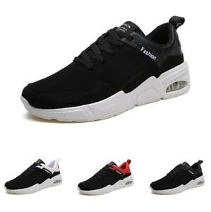 Mens Leisure Sneakers Shoes Gym Mesh Breathable Flats Fitness Non-slip Tennis B