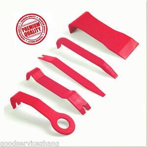 5x-Red-Nylon-Car-Audio-Gps-Radio-Door-Trim-Panel-Dash-Install-Remover-Tools
