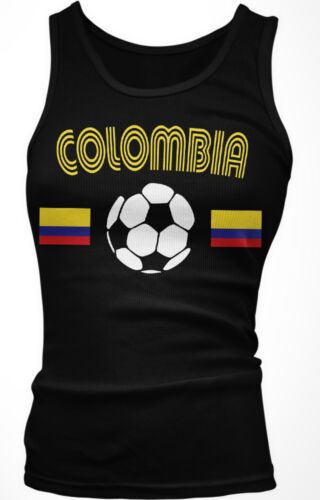 Colombia National Soccer Team The Coffee growers Futbol Boy Beater Tank Top