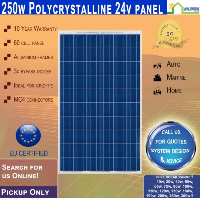 250W 24V Solar Panel Polycrystalline 250 Watt 24 V Pick Up Only