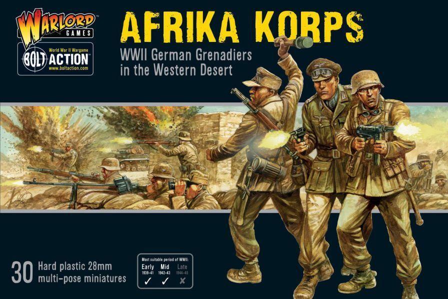 Kriegsherr spielen deutsche afrika - korps 28mm deutsche deutschland im zweiten weltkrieg bolt handeln