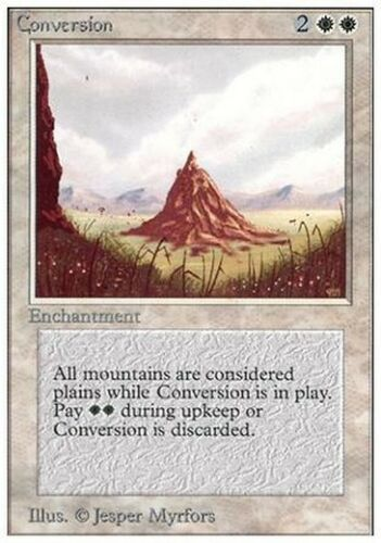 Conversion MTG MAGIC Unlimited Eng NM 2x Mutazione Geomorfica