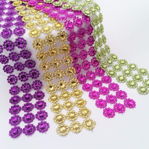 SUNFLOWER Diamante Bling Sparkling Diamond Effect Wedding Cake Craft Trim Ribbon