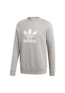 Trefoil Homme Du Adidas Sweat Gris Originals Cou Ras Cy4573 CoredxBQW