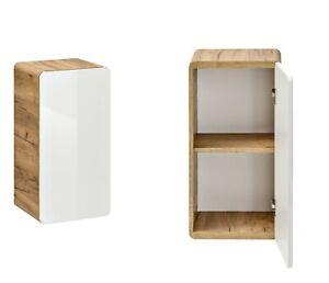 White-Gloss-Oak-Bathroom-Wall-Mounted-Small-Storage-Unit-1-Door-Cabinet-Arub