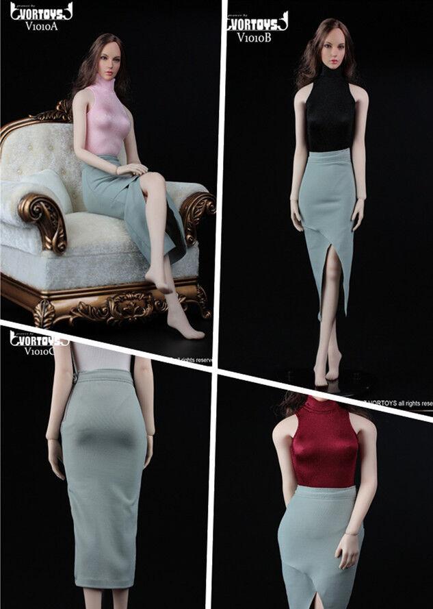 VORTOYS V1010 Office Lady Split Wrap Skirt Tight Top Sleeveless 1 6 F 12  Figure