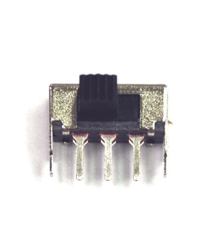 10pc ángulo recto interruptor deslizante on/off interruptor DPDT de montaje PCB 6P 0.5A SK-22F03 Barra de G8 = 8mm