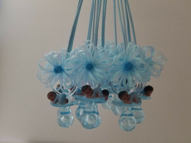 12 Pacifier Necklaces African American Baby Shower Game Favors