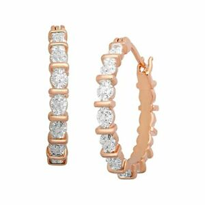 Hoop-Earrings-with-Diamonds-in-18K-Rose-Gold-Plated-Brass