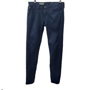 AG Adriano Goldschmied The Stilt Cigarette Leg Dark Blue Womens Size 27