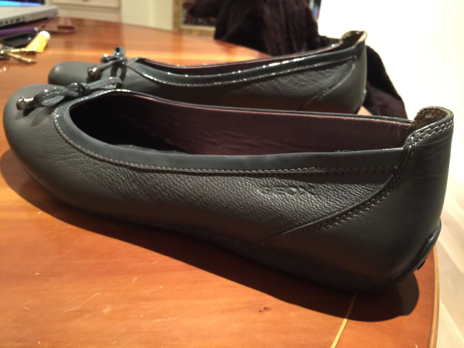Geox Respira Ladies Leather Ballet Ballet Ballet Flats Size 42 New 2cc478